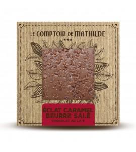 TABLETTE CHOCOLAT LAIT ECLAT DE CARAMEL BEURRE SALE 80G