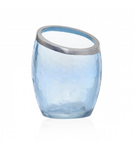 PEARLESCENT CRACKLE PHOTOPHORE POUR VOTIVE BLEU