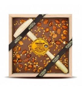 CHOCOLAT A CASSER LAIT MON CHOUCHOU AMANDE NOISETTE 400G