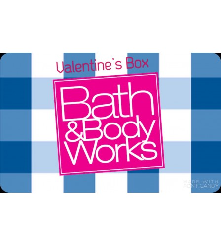 MA VANLENTINE'S BOX BATH AND BODY WORKS
