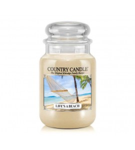 GRANDE JARRE COUNTRY CANDLE LIFE'S A BEACH