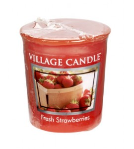 VOTIVE VILLAGE CANDLE FRESH STRAWBERRIES