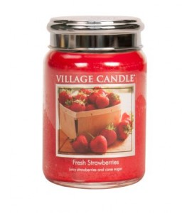GRANDE JARRE VILLAGE CANDLE FRESH STRAWBERRIES