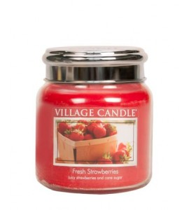 MOYENNE JARRE VILLAGE CANDLE FRESH STRAWBERRIES