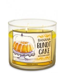 Bougie 3 mèches Banana Bundt Cake Cream Bath and Body Works