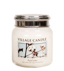 MINI JARRE VILLAGE CANDLE PURE LINEN