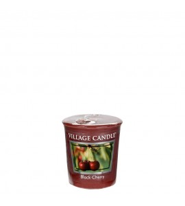 VOTIVE VILLAGE CANDLE BLACK CHERRY