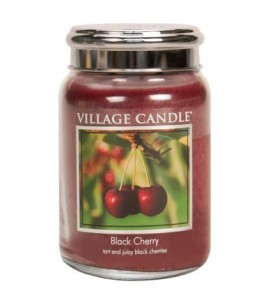 GRANDE JARRE VILLAGE CANDLE BLACK CHERRY