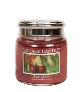 MOYENNE JARRE VILLAGE CANDLE BLACK CHERRY