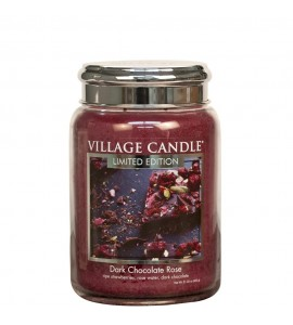 GRANDE JARRE VILLAGE CANDLE DARK CHOCOLATE ROSE