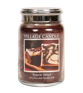 GRANDE JARRE VILLAGE CANDLE BROWNIE DELIGHT