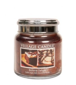 MOYENNE JARRE VILLAGE CANDLE BROWNIE DELIGHT