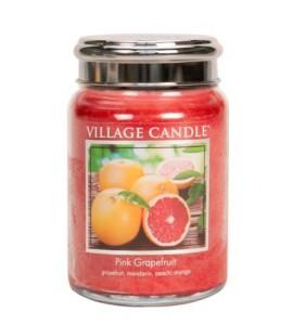 GRANDE JARRE VILLAGE CANDLE PINK GRAPEFRUIT