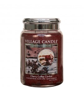 GRANDE JARRE VILLAGE CANDLE CHERRY COFFEE CORDIAL