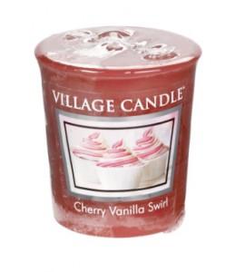 VOTIVE VILLAGE CANDLE CHERRY VANILLA SWIRL