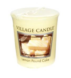 VOTIVE VILLAGE CANDLE LEMON POUND CAKE