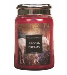 GRANDE JARRE VILLAGE CANDLE UNICORN DREAMS