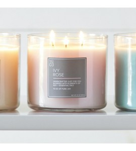 3 MECHES VILLAGE CANDLE IVY ROSE