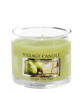 MINI GLASS VILLAGE CANDLE GINGER PEAR FIZZ