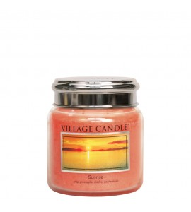MOYENNE JARRE VILLAGE CANDLE SUNRISE