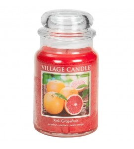 GRANDE JARRE VILLAGE CANDLE PINK GRAPEFRUIT