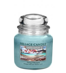 MOYENNE JARRE VILLAGE CANDLE TRANQUIL MOMENTS