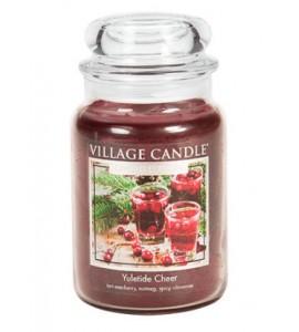 GRANDE JARRE VILLAGE CANDLE YULETIDE CHEER
