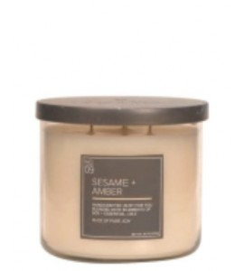 3 MECHES VILLAGE CANDLE SESAM & AMBER