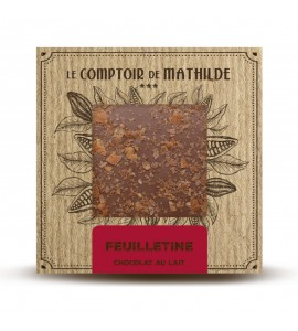 TABLETTE CHOCOLAT LAIT FEUILLETINE 80G