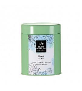 BLF Bougie parfumée boîte à thé 60h bleuet sauge