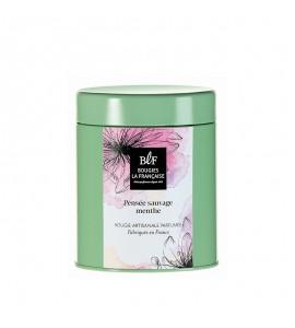 BLF Bougie parfumée boîte à thé 60h pensée sauvage menthe