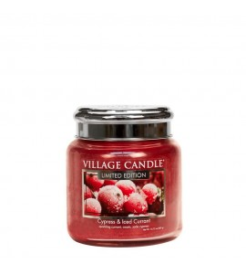 MOYENNE JARRE VILLAGE CANDLE CYPRESS & ICED