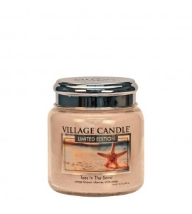 MOYENNE JARRE VILLAGE CANDLE TOES IN THE SAND