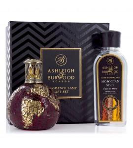 ASHLEIGH & BURWOOD LONDON COFFRET LAMPE A PARFUM DRAGON'S EYE & PARFUM EPICES MAROCAINES