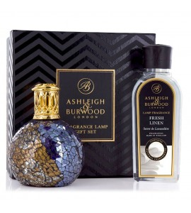 ASHLEIGH & BURWOOD LONDON COFFRET LAMPE A PARFUM MASQUERADE & PARFUM LIN FRAIS