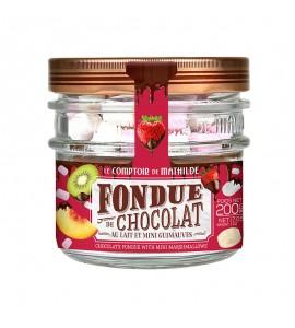 FOUDUE DE CHOCOLAT AU LAIT 20G DE MINI GUIMAUVES 200G