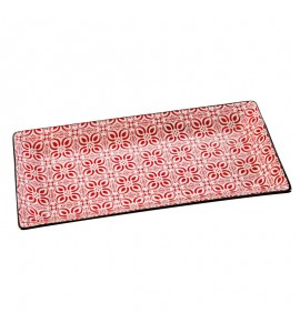 PLAT RECTANGLE COLORIS ASSORTIS L23 X P12 X H1.8CM