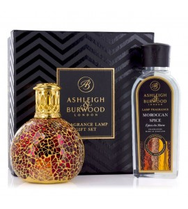 ASHLEIGH & BURWOOD LONDON COFFRET LAMPE A PARFUM TAHITIAN SUNSET & PARFUM EPICES MAROCAINES