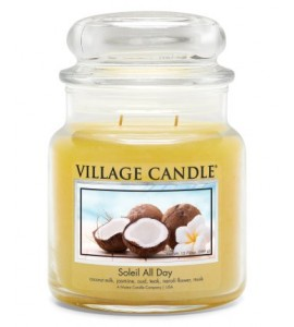 MOYENNE JARRE VILLAGE CANDLE SOLEIL ALL DAY